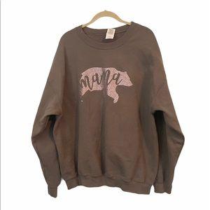 Mama Bear Glitter Gildan Oversized Sweatshirt